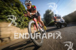 Camille Donat (4th Pro) during the bike leg at Ironman…