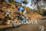 Carrie Lester (1st Pro) during the bike leg at Ironman…