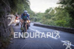 Annabel Luxford (2nd pro) during the bike leg at Ironman…