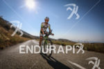 Victor Del Corral (5th) during the bike leg at Ironman…