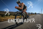 Denis Chevrot (3rd) during the bike leg at Ironman France…