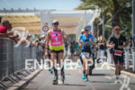 Carrie Lester (first Pro) during the run leg at Ironman…