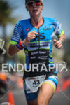 Carrie Lester (first Pro) during the run leg at the…