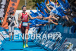 Julie Derron wins the Alpe d'Huez short distance Triathlon in…