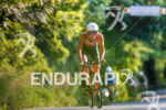 Emma Pallant during the bike portion of the 2017 Ironman…