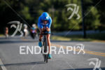 Laura Phillip during the bike portion of the 2017 Ironman…