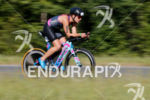 Sarah True during the bike portion of the 2017 Ironman…