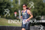 Sarah True during the run portion of the 2017 Ironman…