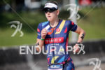 Jeanni Seymor during the run portion of the 2017 Ironman…