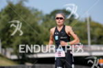 Helle Frederiksen during the run portion of the 2017 Ironman…