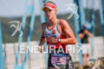 Emma Pallant during the run portion of the 2017 Ironman…