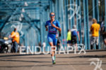 Laura Phillip during the run portion of the 2017 Ironman…