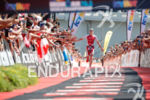 Daniela Ryf during the finish portion of the 2017 Ironman…