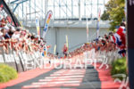 Emma Pallant during the finish portion of the 2017 Ironman…