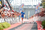 Laura Phillip during the finish portion of the 2017 Ironman…