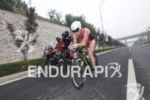 Paula Findlay on the bike leg of the 2017 Beijing…