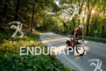Ben Kanute during the bike portion of the 2017 Ironman…