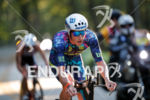 Sam Appleton during the bike portion of the 2017 Ironman…