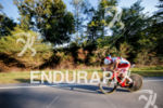 Javier Gomez during the bike portion of the 2017 Ironman…