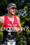 Ben Kanute during the run portion of the 2017 Ironman…