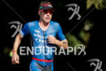 Tim Reed during the run portion of the 2017 Ironman…