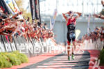 Ben Kanute during the finish portion of the 2017 Ironman…