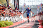 Sam Appleton during the finish portion of the 2017 Ironman…