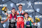 Javier Gomez, Ben Kanute and Tim Don during the podium…