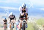 David McNamee (GBR) competes during the bike leg at the…