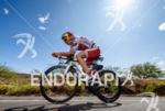 Daniela Ryf (SUI) competes during the bike leg at the…