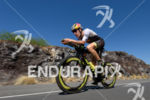 Sebastian Kienle (GER) competes during the bike leg at the…
