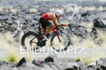 Ivan Rana (ESP) competes during the bike leg at the…