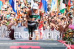 Lionel Sanders (CAN) at the finish of the 2017 Ironman…