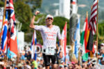 James Cunnama (ZAF) at the finish of the 2017 Ironman…