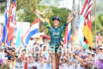 Heather Jackson (USA) at the finish of the 2017 Ironman…