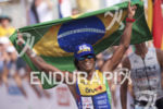 Thiago Vinhal reaches the finish at the 2017 Ironman World…