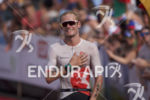 Jan Van Berkel reaches the finish at the 2017 Ironman…