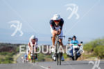Jan Frodeno (ALE) competes during the bike leg at the…