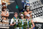 Men's podium at the 2017 Ironman World Championship in Kailua-Kona,…