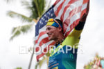 Andy Potts (USA) competes during the finish leg at the…