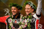 Daniela Ryf (SUI) and Patrick Lange (GER) at the awards…