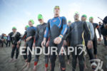 The pro men line up for the swim start at…