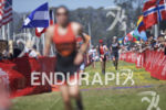 Age groupers reach the finish chute at Escape From Alcatraz…