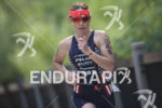 Jennifer Spieldenner on the run course of the 2018 Ironman…