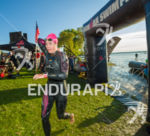 Female athlete exiting swim at the 2018 Ironman Wisconsin on…