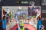Linsey Corbin celebrating on her way to the women's pro…