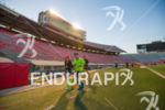 Finding a running buddy in Camp Randall Stadium on the…