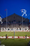 A solitary segment in Camp Randall Stadium on the run…