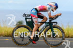 Lucy Charles (GBR) competes during the bike leg at the…