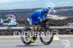 Patrick Lange (GER) competes during the bike leg at the…